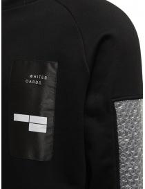 Whiteboards felpa nera con maniche pluriball maglieria uomo acquista online