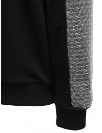 Whiteboards black sweatshirt with bubble wrap sleeves