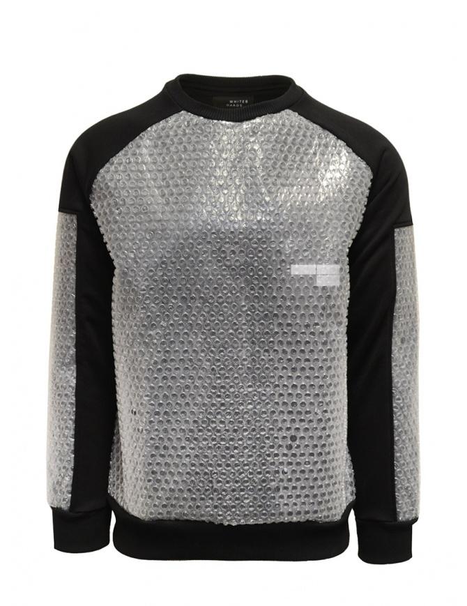 Whiteboards bubble wrap black sweatshirt WB03FS2021 BLACK mens knitwear online shopping
