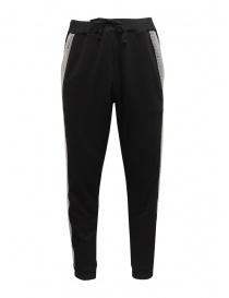 Whiteboards sweat pants with bubble wrap side band WB05SJ2021 BLACK