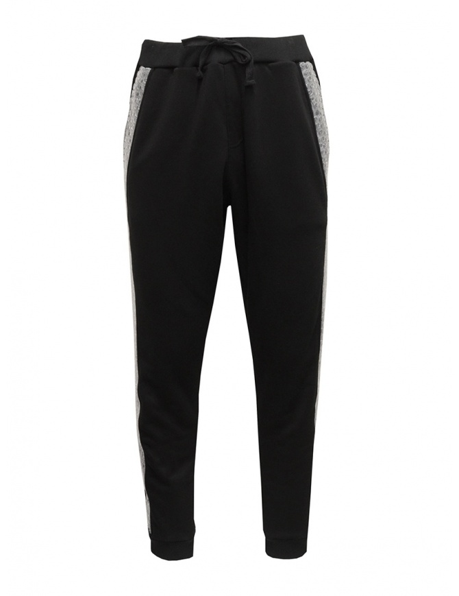 Whiteboards sweat pants with bubble wrap side band WB05SJ2021 BLACK mens trousers online shopping