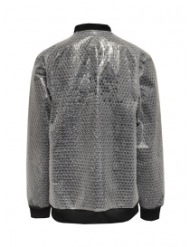 Whiteboards fleece and bubble wrap bomber jacket