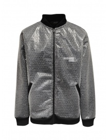 Whiteboards fleece and bubble wrap bomber jacket online