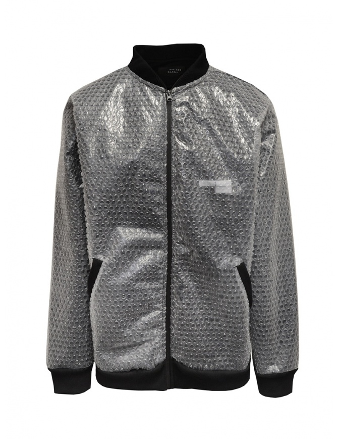 Whiteboards fleece and bubble wrap bomber jacket WB02ZB2021 BLACK mens jackets online shopping