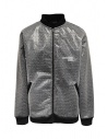 Whiteboards fleece and bubble wrap bomber jacket buy online WB02ZB2021 BLACK