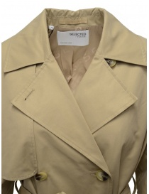 Selected Femme beige double-breasted trench coat womens coats buy online