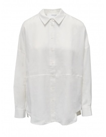 Camicie donna online: Selected Femme camicia bianca a maniche lunghe in Tencel Lyocell