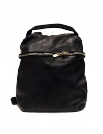 Guidi SA03 black leather backpack online