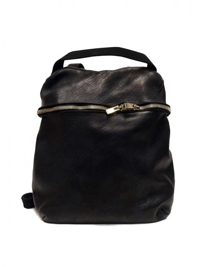 Zaino Guidi SA03 in pelle nera SA03 SOFT HORSE FULL GRAIN BLKT borse online shopping