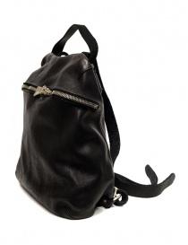 Guidi SA03 black leather backpack