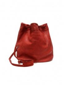 Guidi BK3 piccola borsa secchiello in pelle di cavallo rossa online
