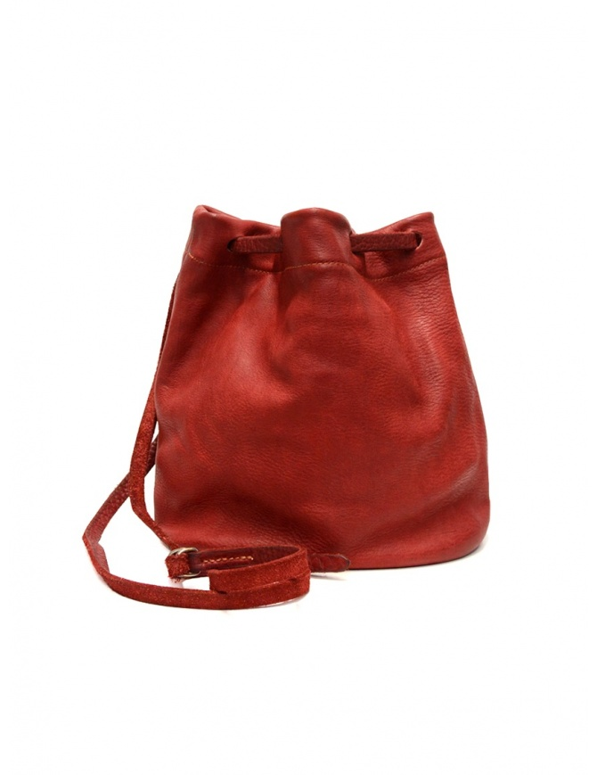 Guidi BK3 red horse leather small bucket bag BK3 SOFT HORSE FG 1006T bags online shopping