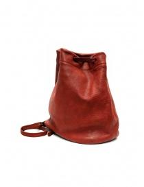 Guidi BK3 piccola borsa secchiello in pelle di cavallo rossa
