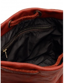 Guidi BK3 red horse leather small bucket bag buy online price