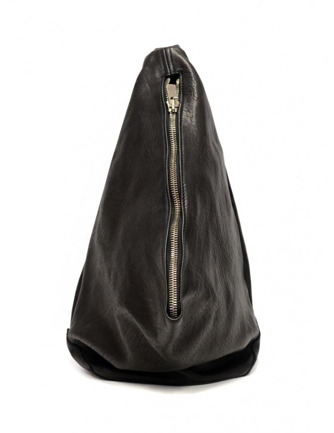Guidi BV08 single-shoulder backpack in black leather BV08 SOFT HORSE FG BLKT bags online shopping