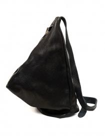 Guidi BV08 single-shoulder backpack in black leather