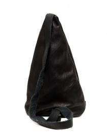 Guidi BV08 single-shoulder backpack in black leather bags buy online