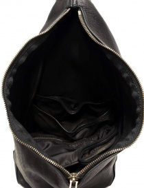 Guidi BV08 single-shoulder backpack in black leather bags price