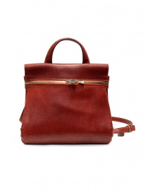 Guidi red leather shoulder bag with external pocket price