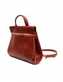 Guidi borsa a tracolla in pelle rossa con tasca esterna online
