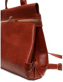 Guidi red leather shoulder bag with external pocket bags buy online