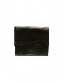 Guidi WT01 mini portafoglio doppio in pelle di canguro nera online