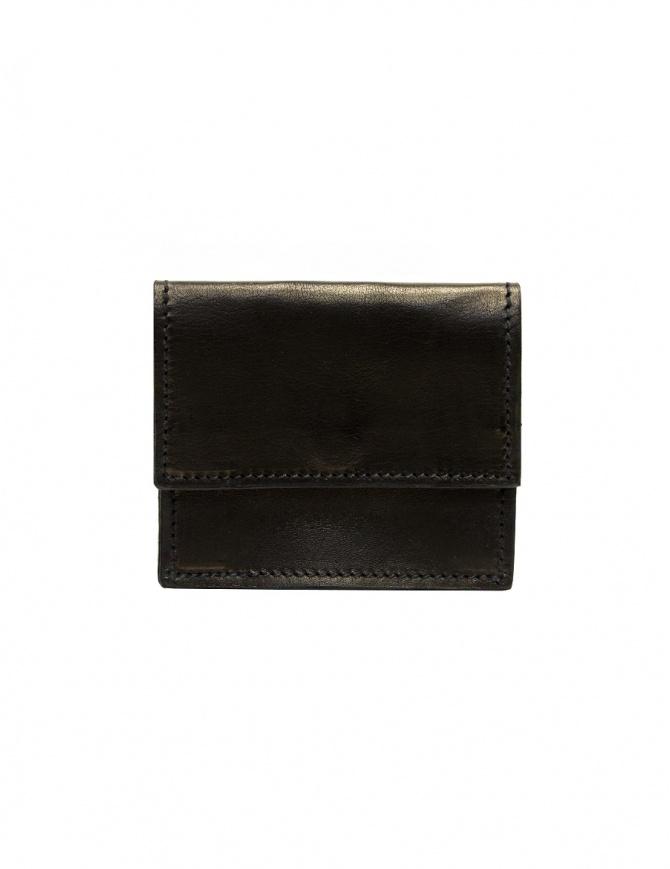 Guidi WT01 mini double wallet in black kangaroo leather WT01 PRESSED KANGAROO BLKT wallets online shopping