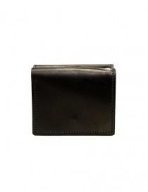 Guidi WT01 mini double wallet in black kangaroo leather wallets buy online