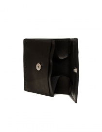 Guidi WT01 mini double wallet in black kangaroo leather