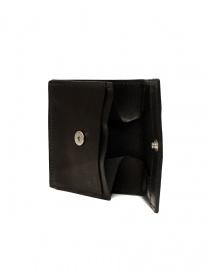 Guidi WT01 mini portafoglio doppio in pelle di canguro nera