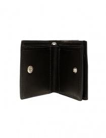 Guidi WT01 mini double wallet in black kangaroo leather wallets price