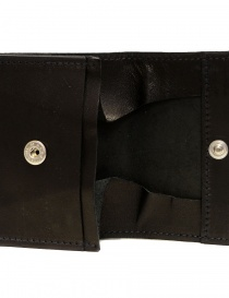 Guidi WT01 mini double wallet in black kangaroo leather buy online price