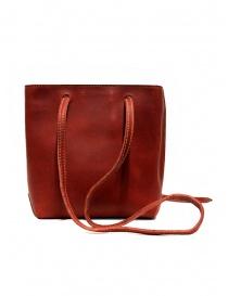 Guidi GD08 borsetta a tracolla in groppone rosso online