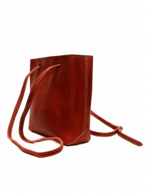 Guidi GD08 borsetta a tracolla in groppone rosso