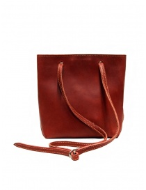 Guidi GD08 shoulder bag in red rump leather price