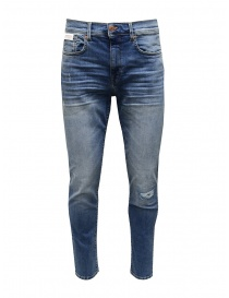 Selected Homme jeans slim fit strappati colore blu medio online