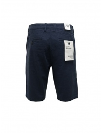 Selected Homme blue linen and cotton bermuda shorts