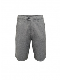 Selected Homme grey cotton and linen bermuda shorts online