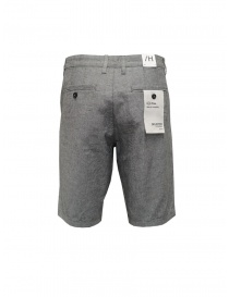Selected Homme grey cotton and linen bermuda shorts
