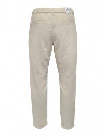 Selected Homme pantaloni bianchi in lino e cotone