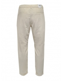 Selected Homme white linen and cotton pants