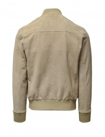 Selected Homme sand-colored suede bomber jacket