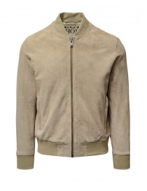 Selected Homme sand-colored suede bomber jacket online