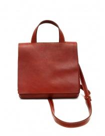 Borse online: Guidi borsa rossa GD03 a tracolla con patta in pelle