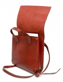 Guidi GD03 red shoulder bag with flap in leather