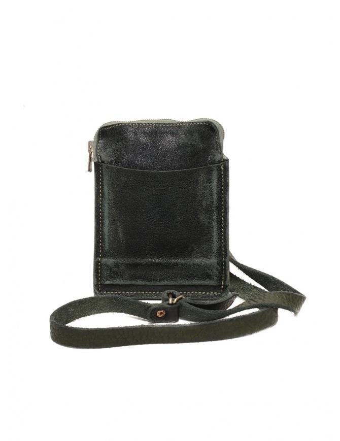 Guidi S04_RU shoulder bag in dark green leather S04_RU COATED CV31T bags online shopping