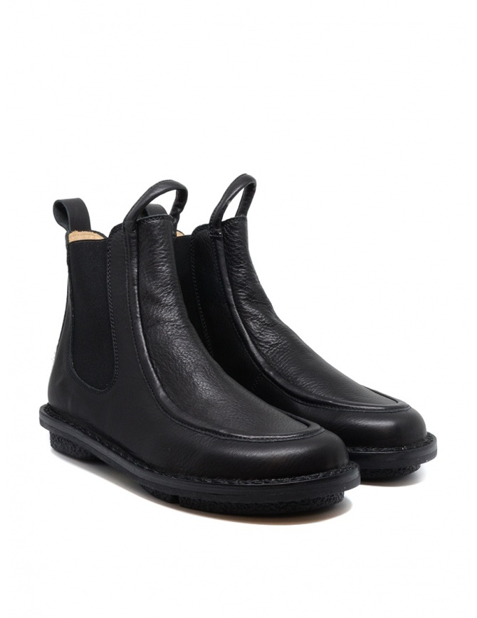 Trippen Reference Chelsea ankle boot in black leather REFERENCE BLK-WAW BLK-SAT KA womens shoes online shopping