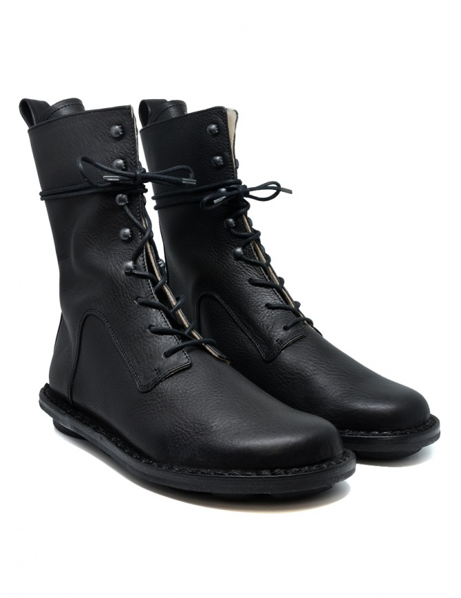 Trippen Concrete lace-up ankle boot with metal hooks CONCRETE BLK-WAW BC BLK womens shoes online shopping