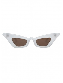 Kuboraum Y7 PL pearl-colored cat-eye sunglasses with brown lenses online