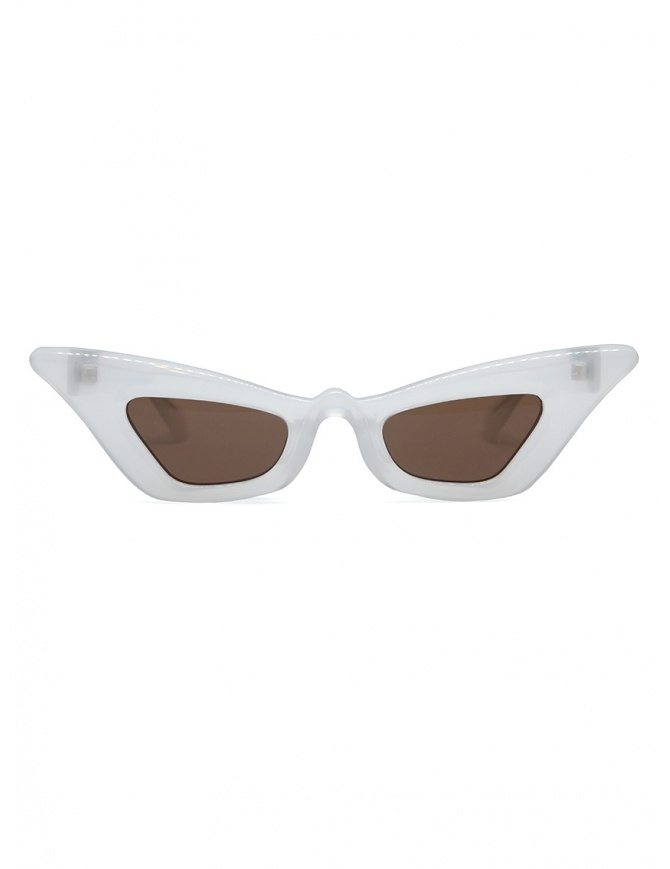 Kuboraum Y7 PL pearl-colored cat-eye sunglasses with brown lenses Y7 48-26 PL R.BROWN glasses online shopping